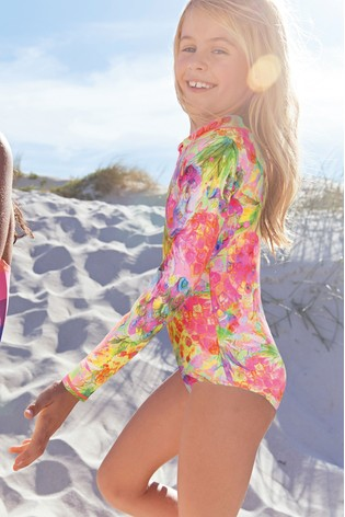 ce905a6b80c Buy Pineapple Print Long Sleeve Sunsafe Swimsuit (12mths-16yrs) from ...