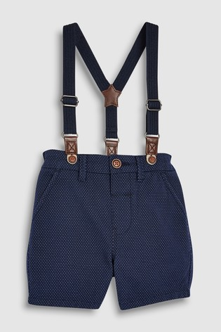 dd682142fa3 Buy Navy Spot Shorts With Braces (3mths-7yrs) from the Next UK ...