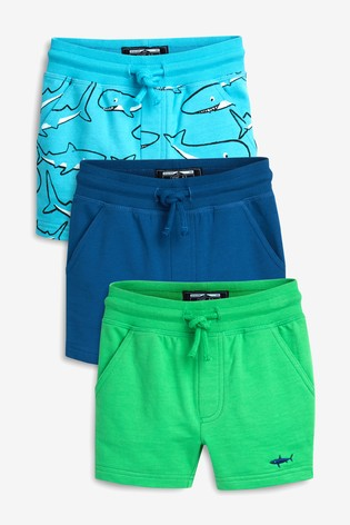67b6c3d3f Buy Blue Shark Shorts Three Pack (3mths-7yrs) from Next Malta