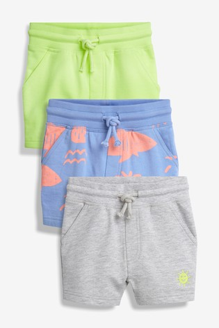 043be30d3 Buy Blue Fluro Sun Shorts Three Pack (3mths-7yrs) from the Next UK ...