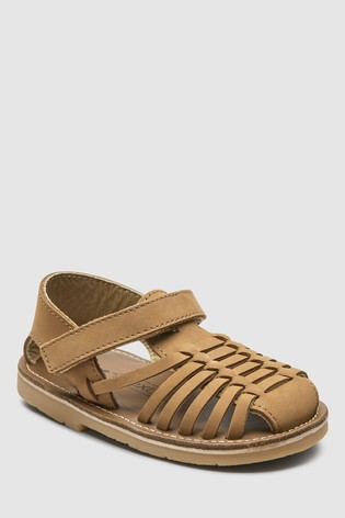 newest collection 4155d 4e763 Tan Leather Huarache Sandals (Younger) ...