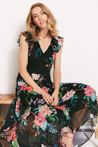 d1c731b836 Buy Phase Eight Black Isadora Gypsy Floral Maxi Dress from the Next ...