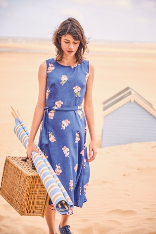 e146bf194 Buy Joules Blue Fiona Sleeveless Woven Dress from the Next UK online ...