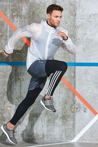 8f148a3729f4c1 Buy adidas Run Black 3 Stripe Legging from the Next UK online shop