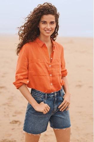 9f94f88445 Buy Coral Linen Shirt from the Next UK online shop