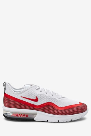 timeless design b4df6 9f7d3 Red White Nike Air Max Sequent ...