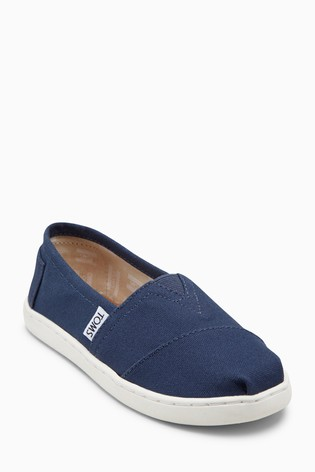 075326a0b77 Buy TOMS Navy Canvas Alpargatas Slip-On Shoe from the Next UK online ...