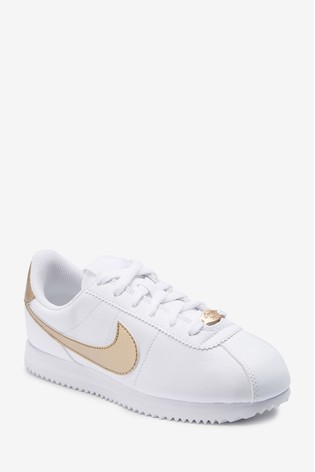 half off bff22 031b3 Buy Nike White/Gold Cortez Youth from Next Belgium