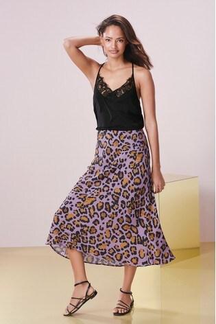 0553c85d214e Buy Purple Animal Print Midi Skirt from the Next UK online shop