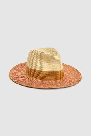 Pink/Gold Panama Hat