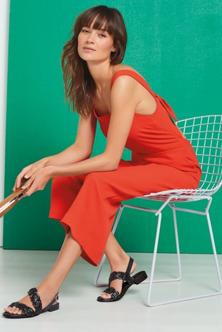 11f75c2f2047 Buy Red Crepe Square Neck Jumpsuit from the Next UK online shop