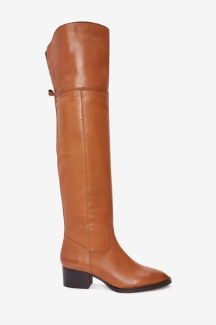 amazing price big sale clearance prices Tan Signature Comfort Over The Knee Boots