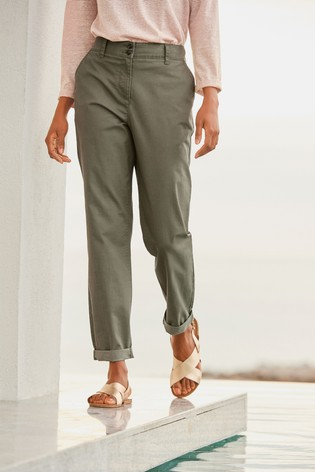 Ladies  'Next' Chino Trousers White Size 14 T Women's