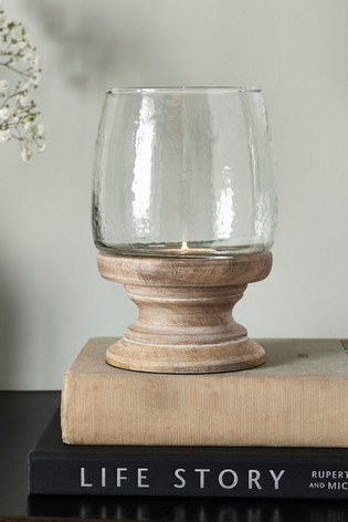 Buy Small Turned Wood Hurricane Lantern From The Next Uk Online Shop