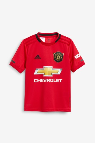 c605b984db Buy adidas Youth Red Manchester United FC 19/20 Home Jersey Top ...