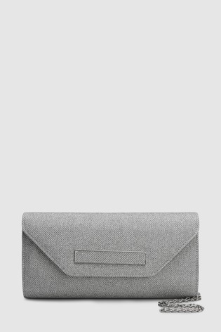 3872b0069 Buy Silver Shimmer Clutch Bag from the Next UK online shop