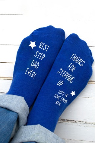 3f7f01c8 Buy Personalised Step Dad Socks by Solesmith from the Next UK online ...