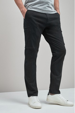 1f2b18247831 Buy Black Slim Fit Military Cargos from Next Slovakia