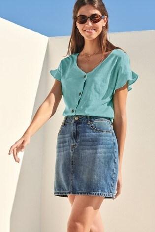 8822338e1 Buy Mid Blue Denim Skirt from Next Oman