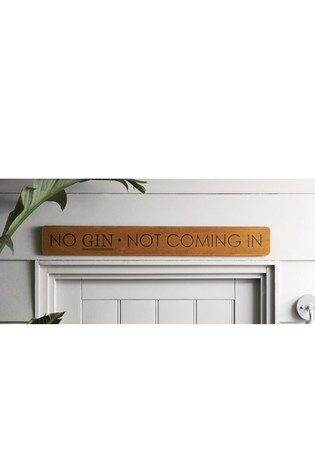Buy No Gin Wooden Wall Plaque from Next Kuwait