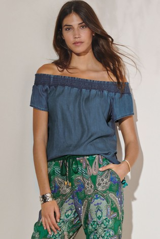 d75ac7576302b1 Buy Blue Co-ord Off Shoulder Top from the Next UK online shop