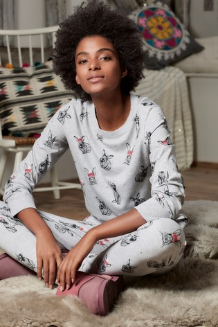 609a3c369a Buy Grey Christmas Bunny Pyjamas With Ribbon Wrapping from Next Hong ...