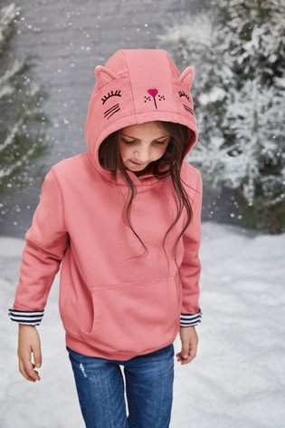 29fd80df51a0 Buy Pink Cat 3D Character Hoody (3-16 lat) from Next Poland