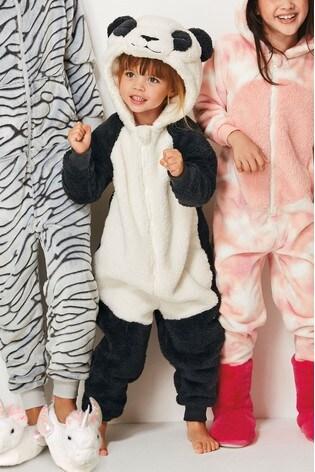 Купить Monochrome Panda Fleece All-In-One (3-16 лет) from Next Ukraine e17f4b71d3420