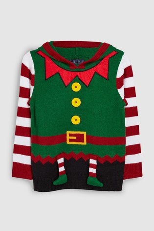 0b9e104c3295b Buy Green Older Kids Christmas Elf Jumper (3-16yrs) from Next Ireland