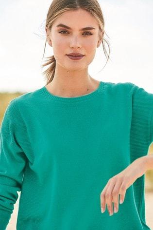 e2e5edee0fcb Buy Green Cosy Boat Neck Sweater from Next India