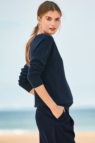 cab001416bae Buy Navy Cosy Boat Neck Jumper from Next Cyprus