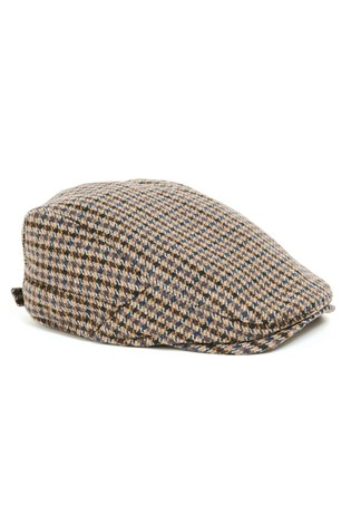 032cd0ef2e4 Buy Brown Dogtooth Flat Cap from Next Bahrain
