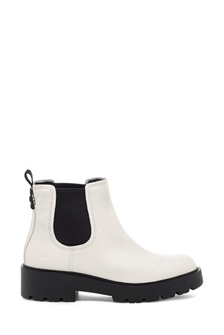 White Markstrum Heavy Duty Ankle Boots