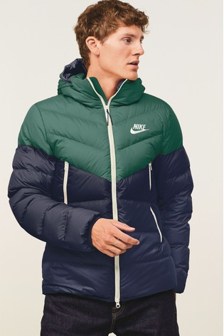 nike down filled hooded jacket