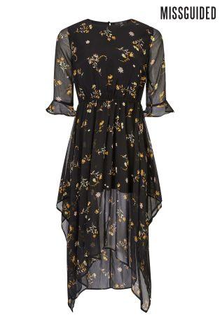 Chiffon midi dress with sleeves uk