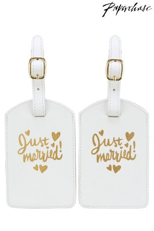 Buy paperchase wedding luggage tag set from the next uk online shop paperchase wedding luggage tag set reheart Images