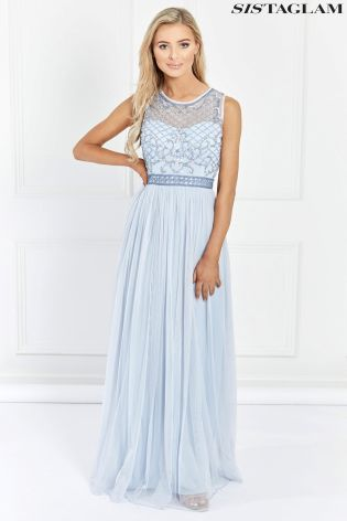 Buy Sistaglam Embellished Maxi Dress From Next Usa