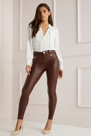 c6b6b185a5f00b Buy Lipsy Kate High Rise Skinny Coated Regular Length Jeans from the ...