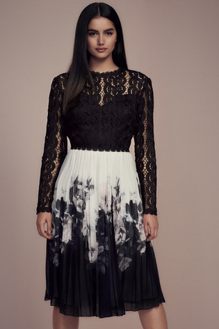 Buy Lipsy Lace Top 2 in 1 Pleated Skirt Midi Dress from the Next UK ... c5e57b122