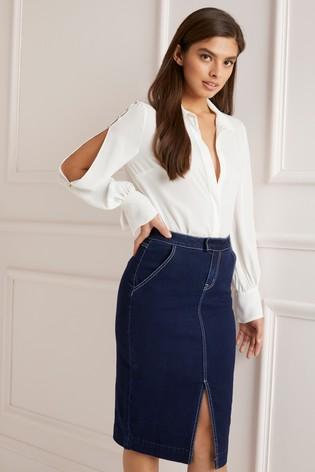 d2acb0d422a Buy Lipsy Tailored Denim Skirt from Next Ireland