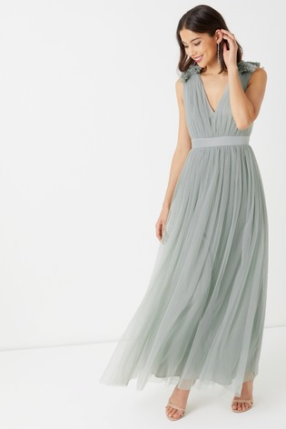 068dd97f8098 Buy Maya Plain Tulle Gathered Maxi Dress from the Next UK online shop