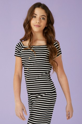 01f35efee5ab7 Buy Lipsy Girl Stripe Off the Shoulder Top from the Next UK online shop