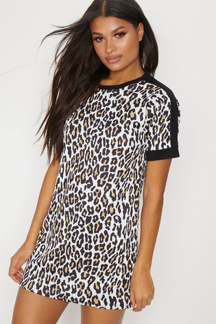 e3c3ec1453 Buy PrettyLittleThing Leopard Print T-Shirt Dress from the Next UK ...