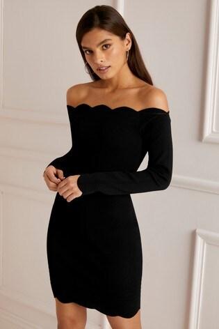 cfdb19b4f98 Buy Lipsy Scallop Long Sleeve Dress from Next Ireland