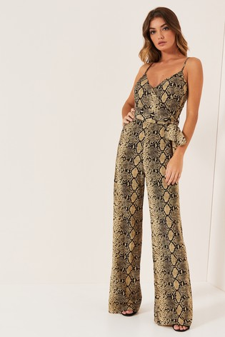 6d2f0ec5b08 Buy Lipsy Snake Print Wide Leg Cami Jumpsuit from the Next UK online ...