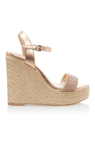 9225337347fd Buy Lipsy Diamanté Espadrille Wedges from Next Ireland