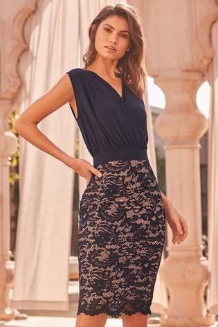 410418123fa3 Buy Lipsy Lace Skirt 2 In 1 Bodycon Dress from Next Slovakia