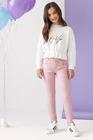 ea1988abc65bf4 Buy Lipsy Girl Coated Skinny Jean from the Next UK online shop