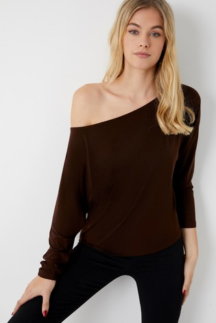 e44bf5a6f4a508 Buy Lipsy Slash Neck Top from the Next UK online shop