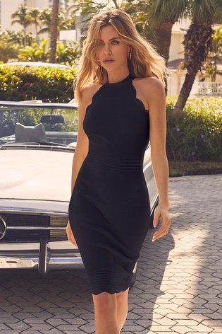 low price sports shoes great prices Buy Abbey Clancy x Lipsy Halterneck Scallop Dress from the Next UK ...